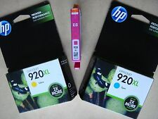 FREE SHIPPING! ~ Genuine HP 920XL COLOR Ink Cartridges LOT ~ Exp'd 2015/2016