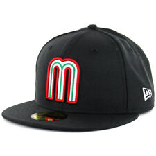 "New Era 59FIFTY Hat World Baseball Classic ""WBC17 Mexico"" (Black) Fitted Hat Cap"