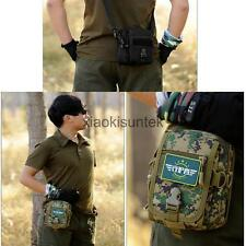 Small Military Nylon Utility Tactical Waist Pack Outdoor Hiking Hunting Cycling