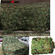 Airsoft Military Camouflage Net Woodlands Leaves Camo Cover for Hunting CS Game