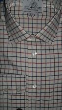 Harvie & Hudson Two Fold Cotton Country Check Shirt - Single Cuff Regular Fit