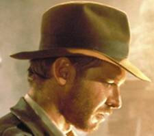 NEW AUTHENTIC Indiana Jones Harrison Ford SATIN Lined Wool Fedora Hat IJ551