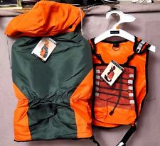 ZACK & ZOEY Hunting Body Guard Vest or Camp Parka Orange Drink Holder LARGE BNWT