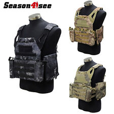 3 Color 1000D VT439 Tactical Molle Airsoft Combat Magazine Vest With Hosters