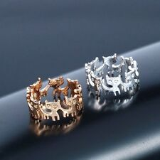 Silver or Gold Plated Cat Kitten Kitty Cute Little Animal Ring in Gift Bag/Box