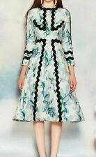 2016 chaste runway lily printing elegantly Delicate hot sale dress free shipping