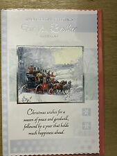 Christmas Card For You Brother - Horse/Carriage/Snow 24x16cm Ref.XM4