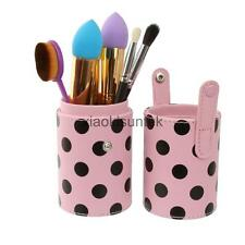 Cosmetics Leather Makeup Brushes Cup Holder Travel Case / Brush Organizer