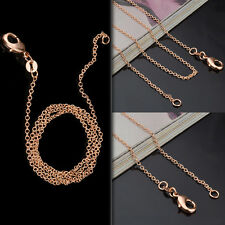 "Wholesale lots 5pcs Rose Gold Chain 1MM ""o"" Chain Link Necklace 18-20inch New"