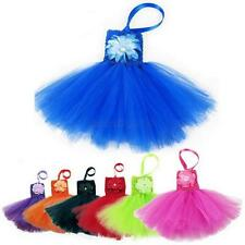 Toddler Kids Girls Princess Party Pageant Wedding Tulle Tutu Flower Dresses