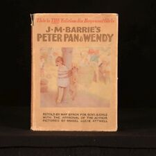 1931 J M Barries Peter Pan and Wendy by May Byron Illustrated Dustwrapper Scarce