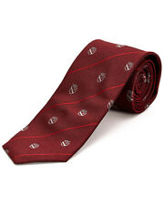 John Varvatos Star USA Men's Tie Classic Shield Red Skinny Silk $95 msrp NWT