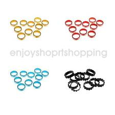 "Pack of 10 Bike HEADSET SPACERS 1-1/8"" BICYCLE Alloy Size 10mm FIXIE BMX MTB"