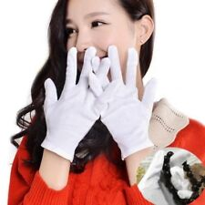 1/6/12Pairs White Inspection Cotton Lisle Work Gloves Coin Jewelry Lightweight