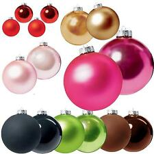 Christmas Tree Decoration Glass Baubles (P) - 40mm 50mm 60mm or 70mm