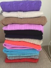 $238 NWT J.Crew Collection 100% italian cashmere mini cable Sweater All Color XS