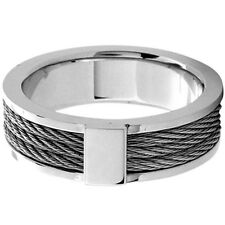 INOX Jewelry 316L Stainless Steel Cable Ring