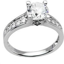 Sterling Silver Round Cubic Zirconia Ring -1.85 ct tw