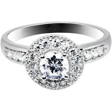 Sterling Silver Round Cubic Zirconia Ring -.80 ct tw