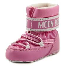 Tecnica Moon Boot Crib Infant  Round Toe Canvas Pink Winter Boot