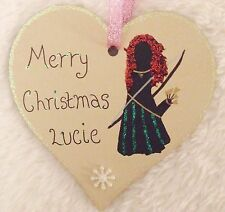 DISNEY PRINCESS MERIDA BRAVE HANDMADE PERSONALISED CHRISTMAS TREE DECORATION