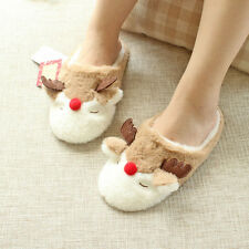 2016 Christmas Gift Elk Women Winter Plush Slippers Warm Soft Home Casual Shoes