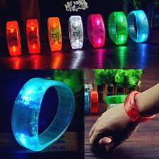 New Sound Controlled Voice LED Light Up Bracelet Activated Glow Bangle Wristband