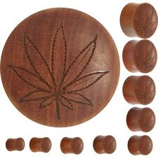 Organic Sawo Wood Ganga Leaf Outline Saddle Plug