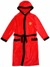 Manchester Utd Hooded Dressing Gown Bathrobe Age 3-13 years