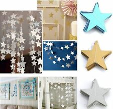 4M Paper Star Hanging Garlands Tree Home Decor Christmas Birthday Wedding Party