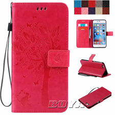For Various iPhone Phone Cases PU Leather Magnetic Flip Wallet Cover Patterned