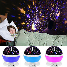 Romantic 4 LED Starry Night Sky Rotating Projector Lamp Star light Cosmo Master