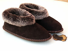 Mens Real Sheepskin Slippers, Boots , Highest Quality Genuine Leather , Home