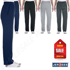 Jerzees Youth 8 oz 50/50 NuBlend Open-Bottom Sweatpants With Pockets M-974Y