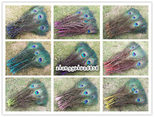Wholesale 10-200pcs pretty 10-12 inch/25-30 cm peacock feather eyes color more