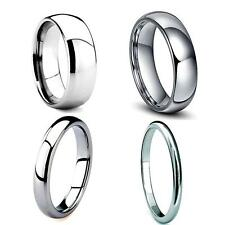 Classic Tungsten Carbide Plain Dome Wedding Band Ring Mens Womens 3, 4, 6, 8mm