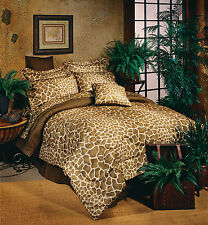 Karin Maki Giraffe Print Comforter & Sheet Set~Bed In Bag~Twin Full Queen King