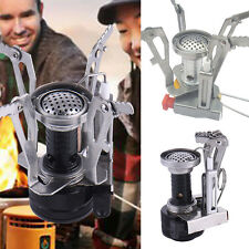 New Foldable Outdoor Picnic Gas Burner Portable Camping Mini Steel Stoves Case