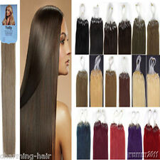 Easy Loop micro ring beads Tipped100% Remy Human Hair Extensions Ombre Dye  Hair