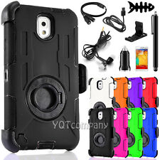 Rugged Armor Shockproof Hybrid Holster Clip Case Cover + Accessory For Samsung