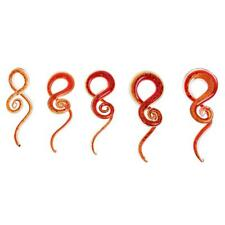 CHIC Red Spiral Flesh Tunnel Ear Stretcher Expander Stretching Plug Piercing
