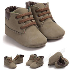 ROMIRUS Baby Toddler Leather Lace Up Sole Shoes Infant Boy Girl Shoes Prewalker