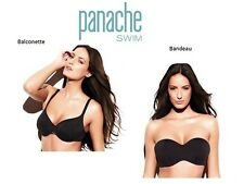 Panache Holly Black Balconette Balcony or Multiway Strapless Bandeau Bikini Top
