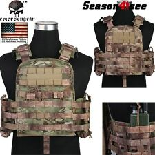 Emerson Multi Camo Military MOLLE Tactical Plate Carrier Assault Vest Hunting