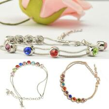 Hot Fashion Charm Europe Multicolor Rhinestsone Snake Chain Link Bracelet Gift