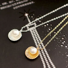 Shell Bead Clavicle Necklace Metal Chain Fashion Jewelry Pendant Necklaces OZ