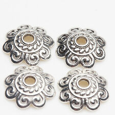 New Wholesale 50/100Pcs Practical Tibetan Silver Bead Cap Craft Finding Gift