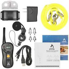 LCD Electric Vibra Remote Dog Shock Training Collar Waterproof Rechargeable O9V1