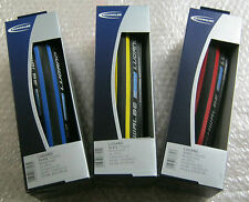 SCHWALBE LUGANO KEVLAR FOLDING 700 x 23 Road Cycle Tyres Puncture Protection New