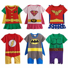 Baby Boy Girl Superhero Costume Newborn Infant Party Fancy Dress Playsuits